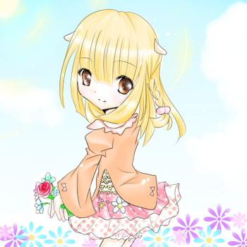 くうちゃんとお花.png